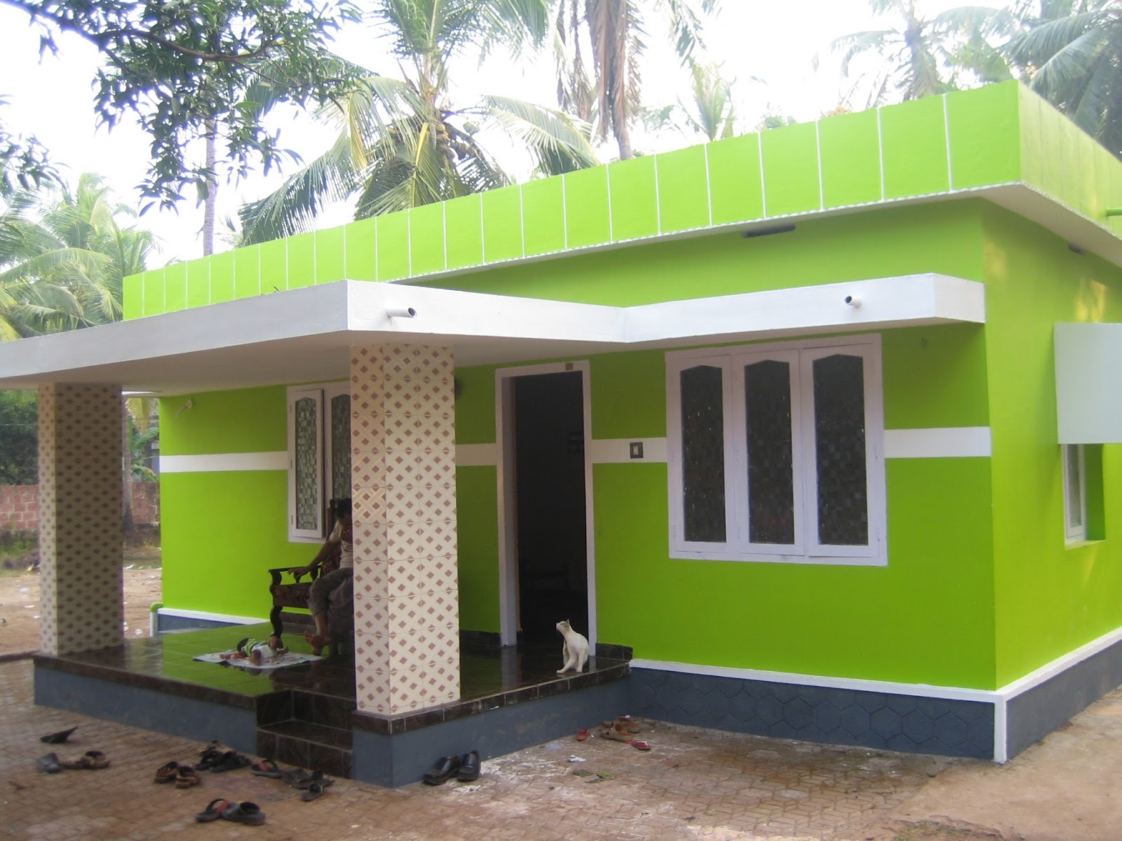 35 small and simple but beautiful house with roof deck for Bangladesh village house design