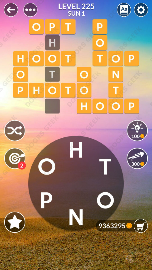 Wordscapes Level 225 Answers Doors Geek