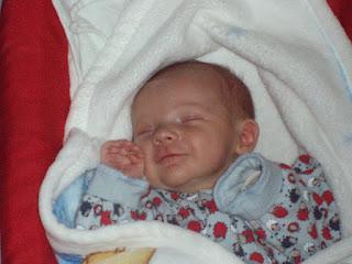 Lächeln eines Babys