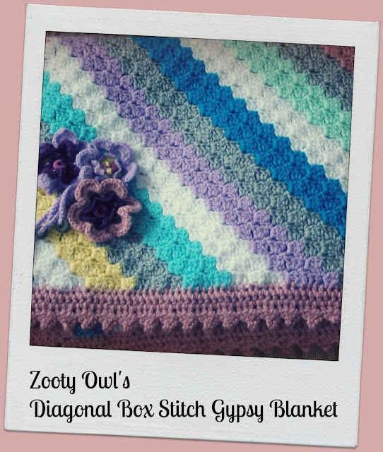 Diagonal Box Stitch Crochet Afghan