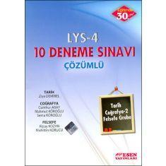 Esen LYS-4 Çözümlü 10 Deneme Sınavı