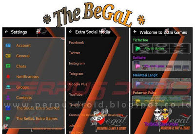 Download BBM Mod The Begal Extra Sosmed 8in1+Games 4in1 Versi 3.0.1.25 Apk