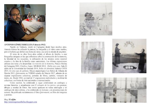 """Exposición: """"El reflejo de un fragmento"""" de Antonio Gómez Ribelles."""
