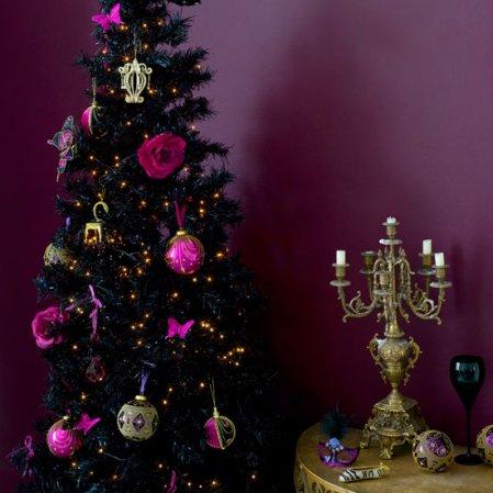 Pink And Purple Christmas Tree Interior Design Ideas