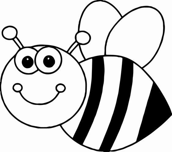 Tranh tô màu con ong xinh cho bé 5 tuổi