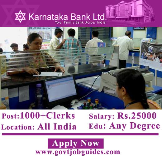 Karnataka Bank jobs, karnatakabank-com-Clerks-recruitment