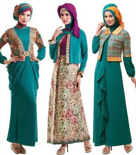 40 gambar desain baju muslim remaja tren 2017 Foto baju gamis anak muda terbaru