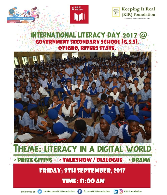 Commemorating International Literacy Day at Government Secondary School (G.S.S) Oyigbo