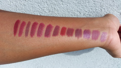 berry and plum lip liner swatches - www.modenmakeup.com