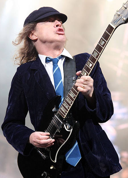 AC/DC Angus Young wears neckties