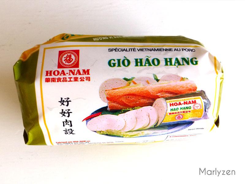Gio, mortadelle vietnamienne.