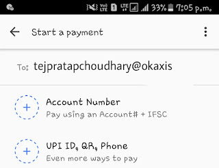 """Payment App by Google - Tez, Google App Refer & Earn, ₹51 Per Referral, Google Tez Referral Code, Google Tez Referral Link,    Google Tez Refer & Earn Offer Detail - Hello Friends!! Here is Another maha loot by Tez App which is owned by Google India. By """"Google Tez"""" UPI App you can experience fastest UPI Transactions. This Is New App for UPI Payment, Send Money to friends and Receive Payments directly in your Bank Account. This is based on NPCI's (National Payments Corporation of India) Unified Payments Interface (UPI), money transfers are simple & secure with Tez.  Google Tez, Google App Refer & Earn, ₹51 Per Referral, Google Tez Referral Code, Google Tez Referral Link,   Google Tez Refer & Earn Offer -   Google Tez announced Refer & Earn Offer through which you will get Rs.51 on SignUp as well as Rs.51 when your referred friends complete his first Transaction of Rs.1 Minimum. You can Earn Maximum of Rs.9000  You & Your Friend Both Will Get  Free Rs.51 Cashback On Directly In Bank When You Do Rs.1 Transaction.  How To Get Rs.51 on Bank Account by Registerering on Tez App ? And Refer & Earn Rs.51   1. Firstly Install Google Tez  App by Clicking Here.   2. Allow All Permission in Google Tez App.  3. Choose Language and Enter Your Mobile Number which is Registered in Your Bank.  4. Verify Your Mobile Number by Entering OTP and Login with Email id.  5. You can Secure your Google Tez App by Google Pin or Mobile Pattern.  6. Go To Setting option > Bank Account > Select Your Bank > Create UPI PIN Or verify Your Bank Account With UPI PIN    Or Simply Click on """" Add Bank Account """". Choose the Bank which you own. And Verify with the Sim which is Registered in Bank.    Now Complete a Transaction of Rs.1 and Get Rs.51 Instantly.  7. In Dashboard you can see send money option, Send Money to your Friends Tez Numbers. If your friends don't having Tez Account then you can send us by Clicking on New and entering UPI ID as """" tejpratapchoudhary@okaxis """". ( send only Tez UPI ID/ Numbe"""