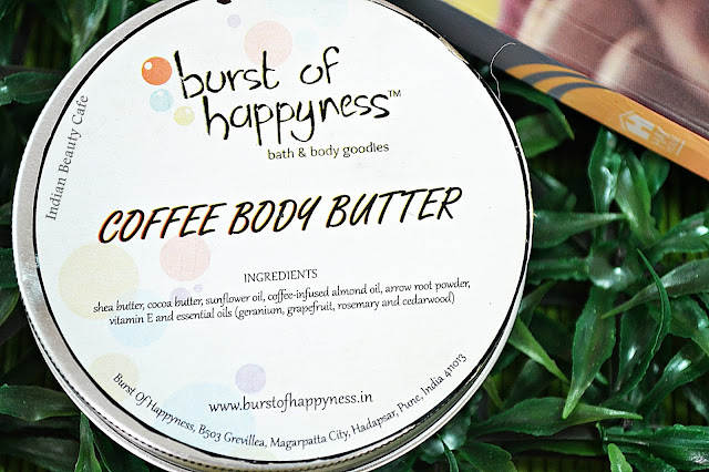 Burst of Happyness Coffee Body Butter review