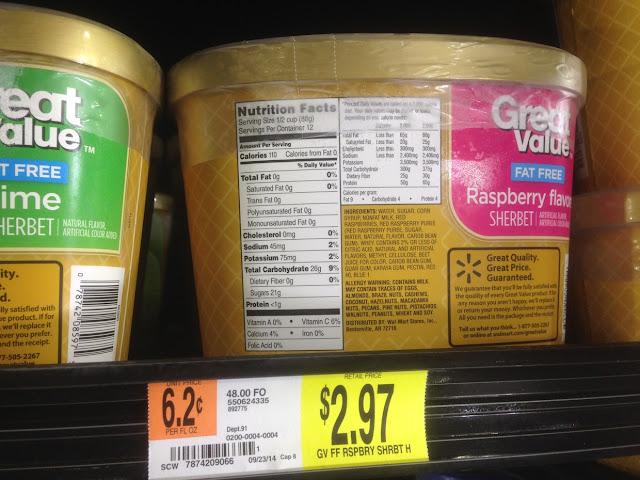 Raspberry Sherbet, Great Value - Walmart