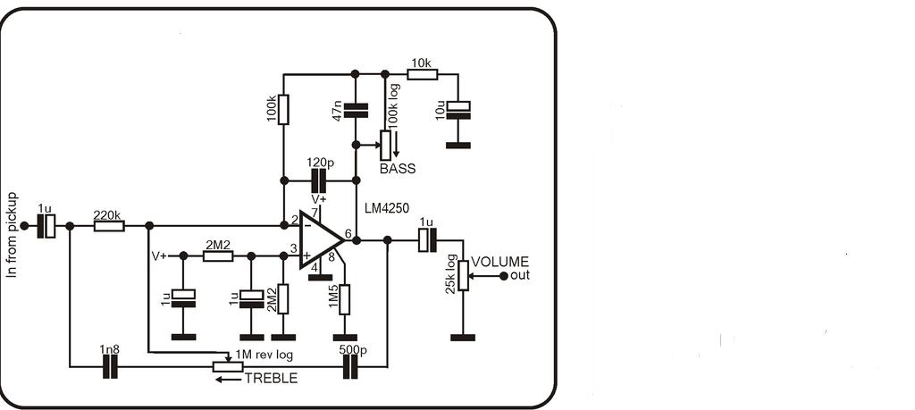 bass guitar preamp circuit diagram