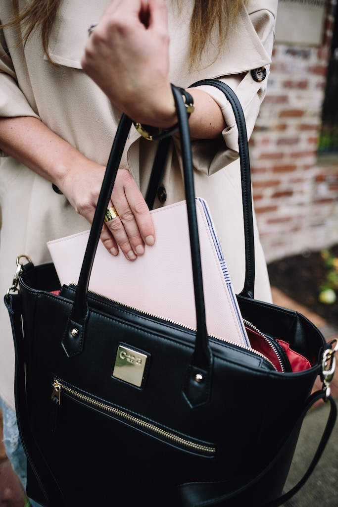 KBStyled: charlotte and asher diaper bag bags black bag leather handbag