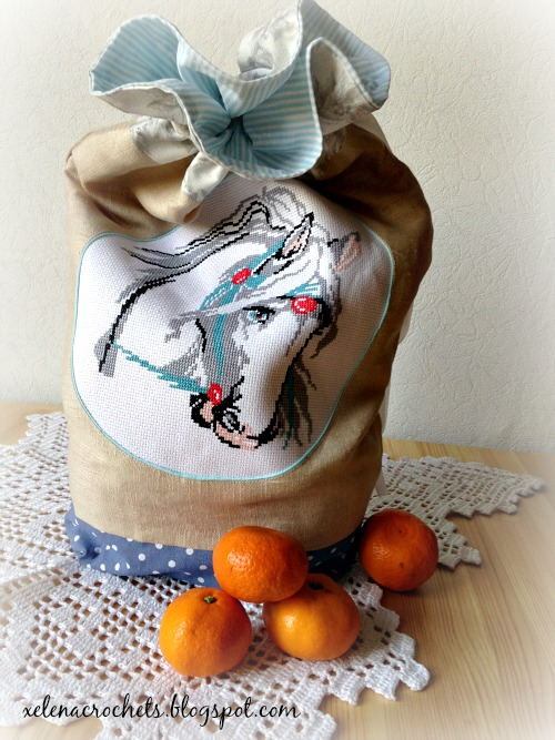 мешок на кулиске с вышивкой