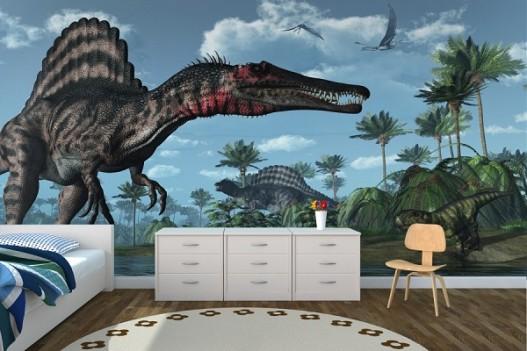 Childrens wall murals Dinosaurs