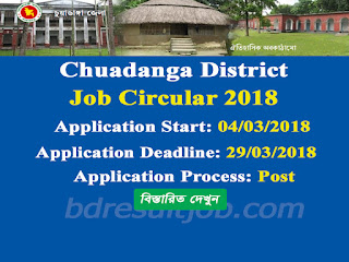 Chuadanga District Recruitment Circular 2018