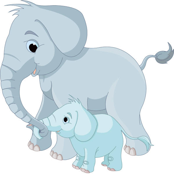 Big and Little Elephants