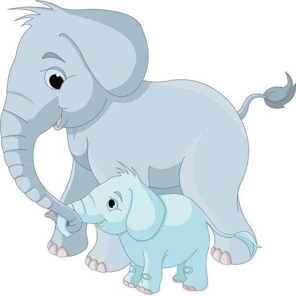 Big and Little Elephants
