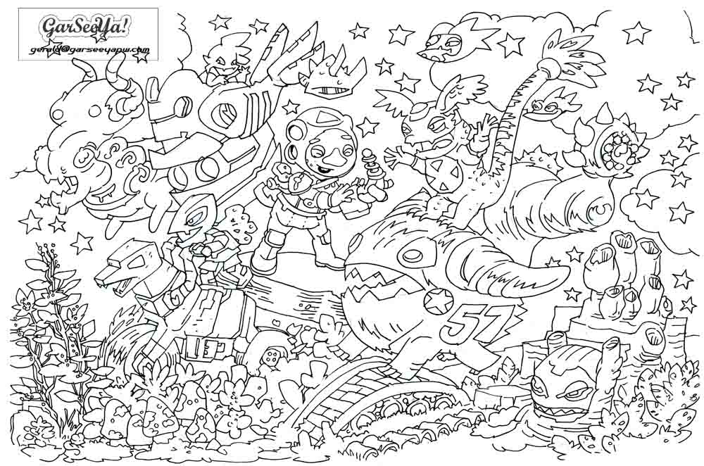 naaman and the servant girl coloring pages - photo #43