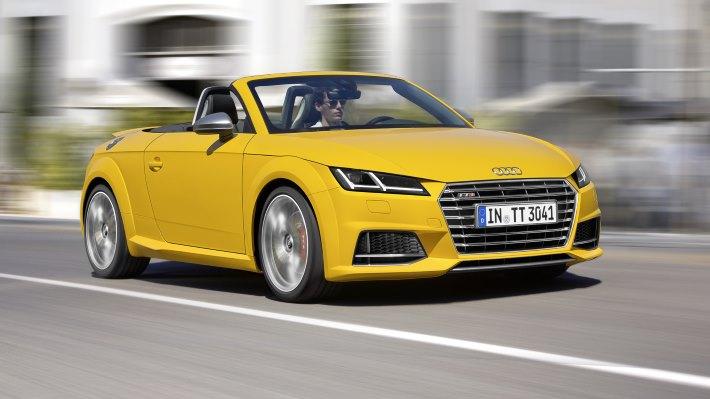Wallpaper 3: Audi TTS Roadster 2015 Yellow