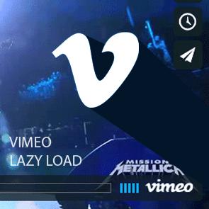 vimeo responsive lazy loading com Jquery