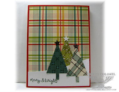 CraftyColonel Donna Nuce for Cards in Envy blog challenge.  Christmas Card