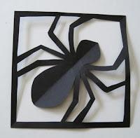 Halloween bricolage araignée en papier