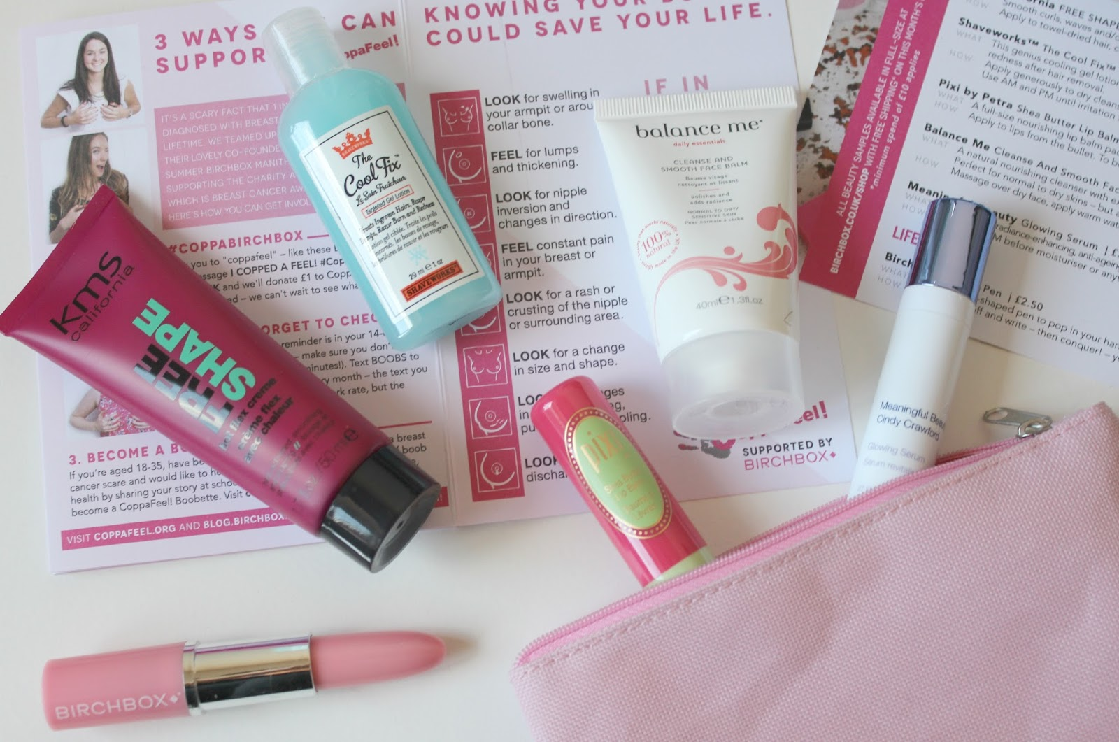 A picture of the Copppafeel Birchbox UK October