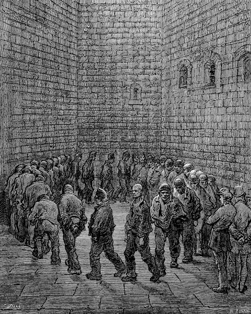 Gustave Dore illustration of 1877 Newgate prison in London