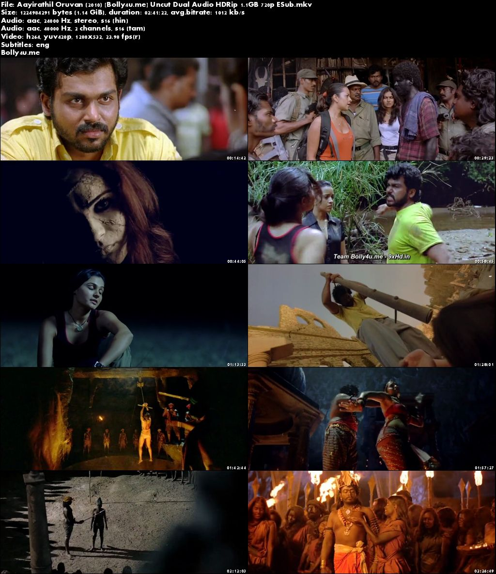 Aayirathil Oruvan 2010 HDRip UNCUT Hindi Dual Audio 720p ESub Download