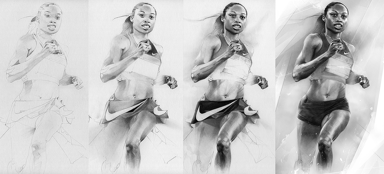 09-Allyson-Felix-detail-Alexis-Marcou-Traditional-and-Digital-Celebrity-Drawings-www-designstack-co