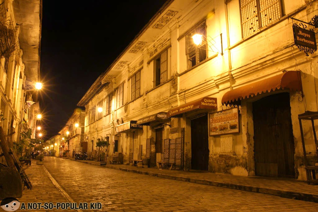 Calle Crisologo (of Vigan City) basking in the glory of the night