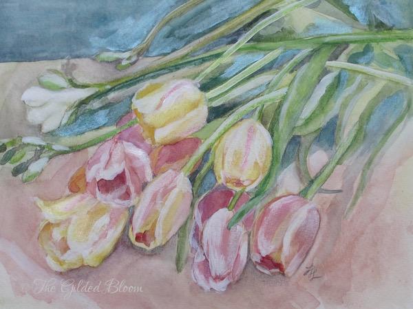 """Cascading Tulips""- www.gildedbloom.com"