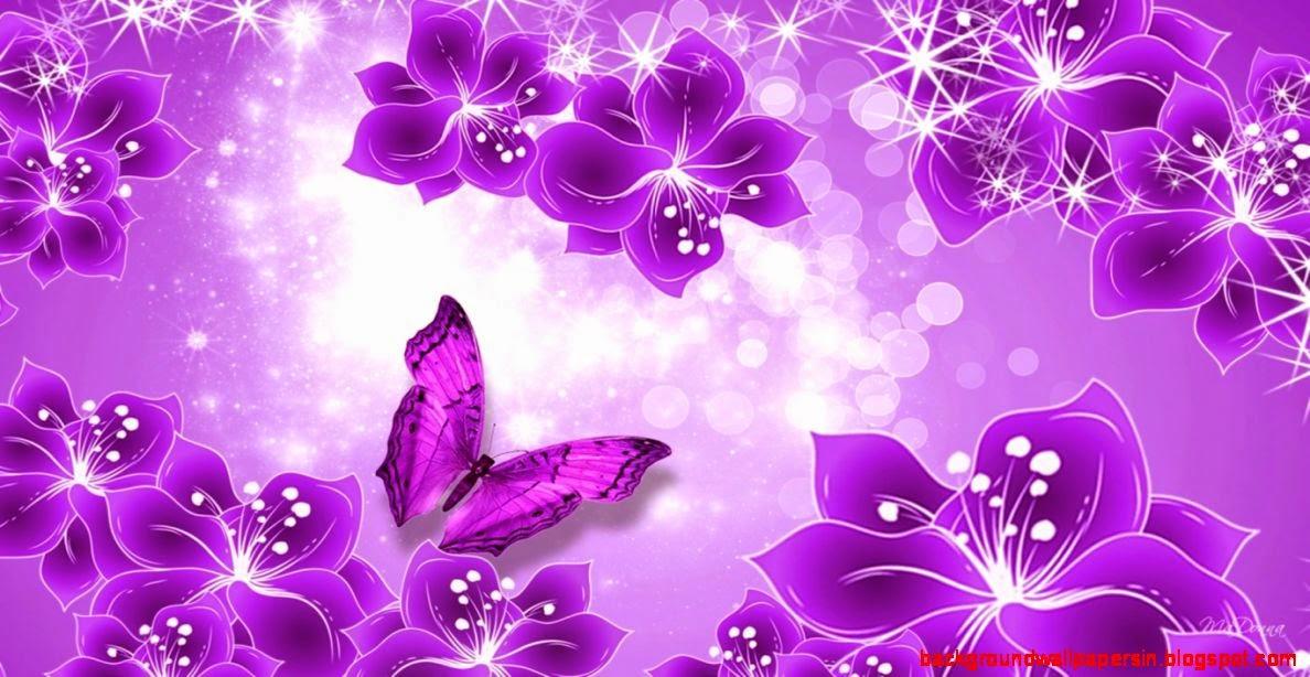 Purple Butterfly Border Design
