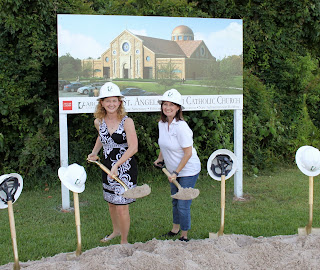 Lisa & Shelly Breaking Ground at St. Angela Merici - Of Sound Mind and Spirit