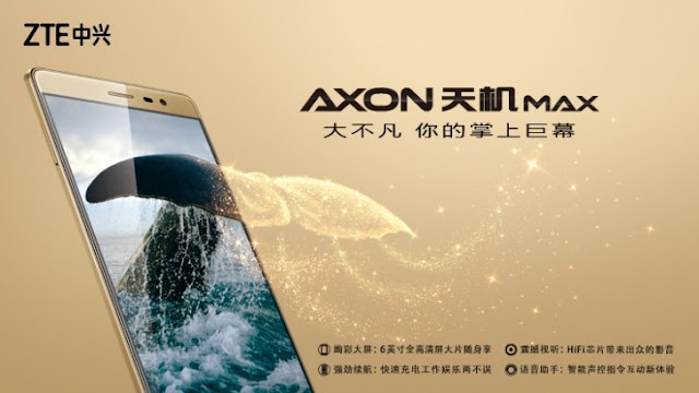 gsmarena_003 ZTE proclaims 6.zero-inch Axon MAX Technology