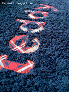 diy personalized bath towels