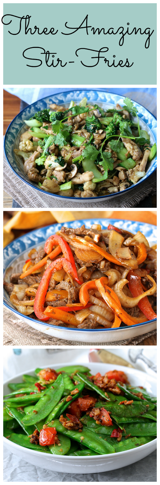 Wok Wednesdays. Three amazing stir fries.
