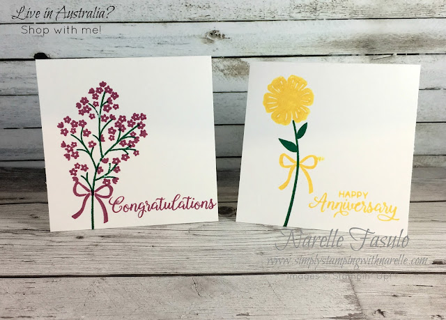 Gift cards using the wonderful Beautiful Bouquet stamp set - get yours here - https://www3.stampinup.com/ECWeb/product/143666/beautiful-bouquet-photopolymer-stamp-set?dbwsdemoid=4008228