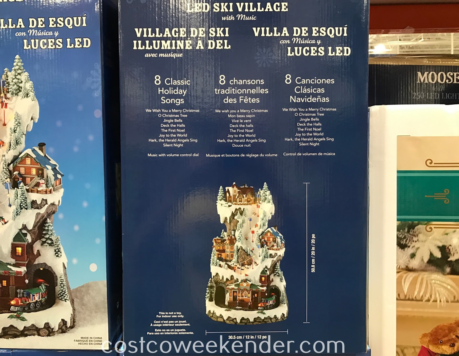 Costco 1456720 - LED Winter Ski Village with Music: great for the holidays