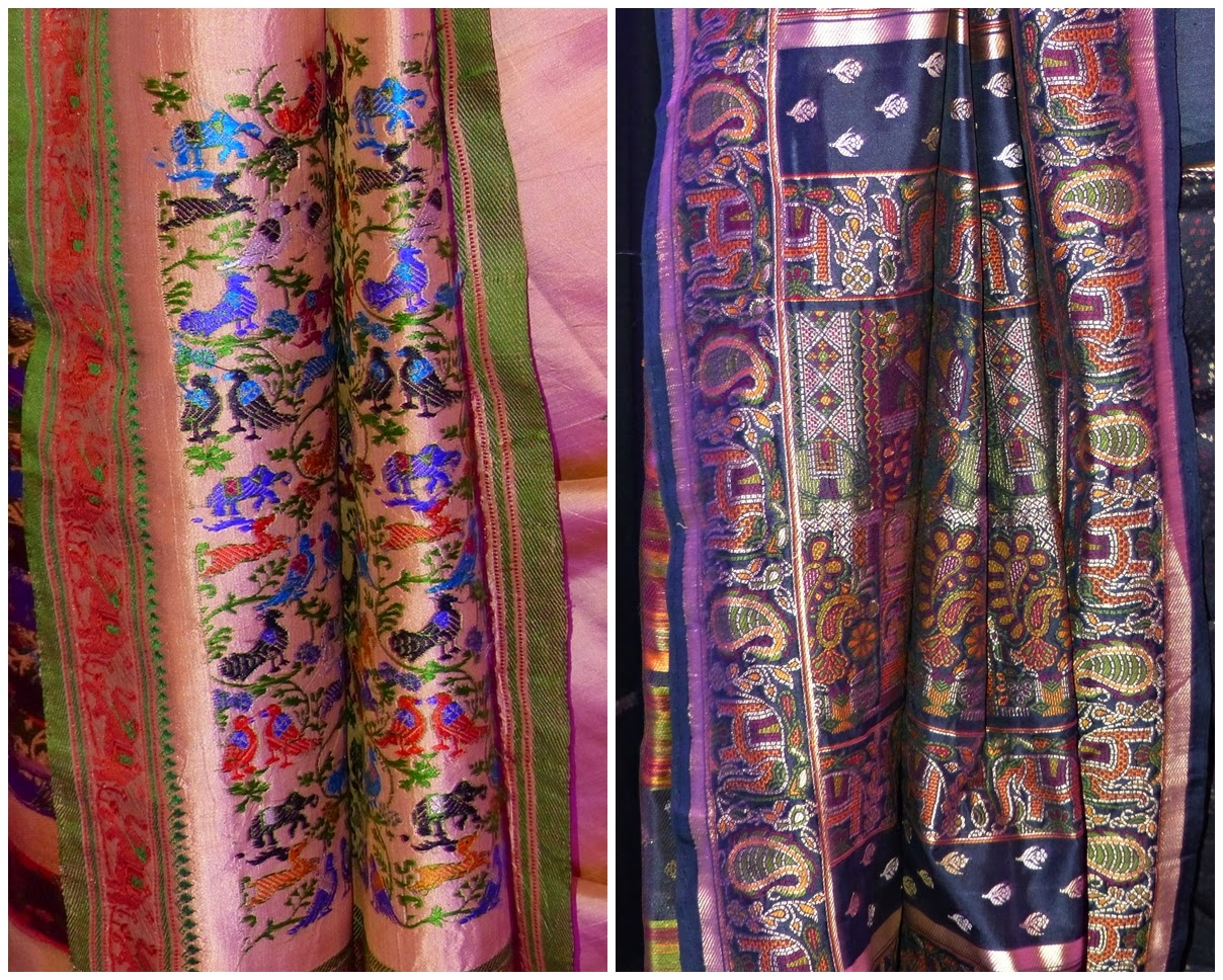 Intricate designs of sari's pallu