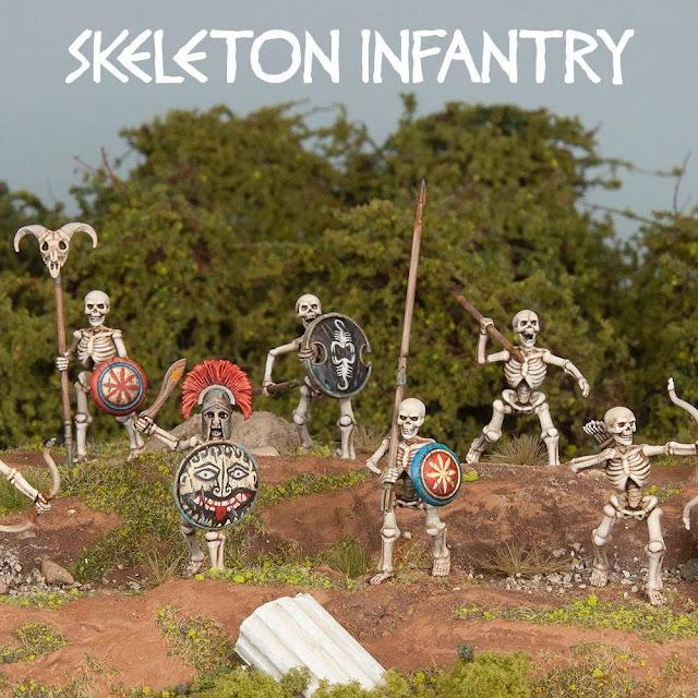 Breaking! Wargames Atlantic: New Plastic Fantasy Classical Greek Skeleton Warriors!