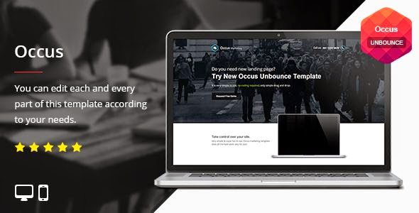 Occus - Unbounce Template