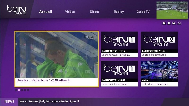 Application Android IPTV APK BEIN SPORT 2018        TOP
