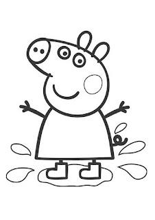 Desenho da Peppa para colorir