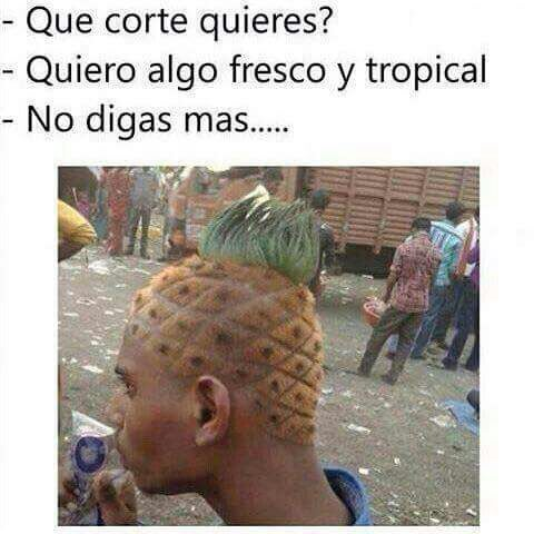 corte de pelo piña topical