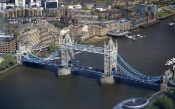 Wallpaper: Tower Bridge from the Shard building